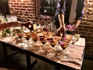 The beautiful presentation of the Floral Citrus cocktails