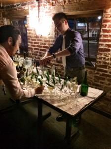 Pouring the Shishito Pepper Martini