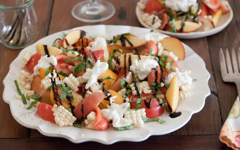 Seasonal Recipe Idea – Heirloom Tomato and Burrata Cheese Salad
