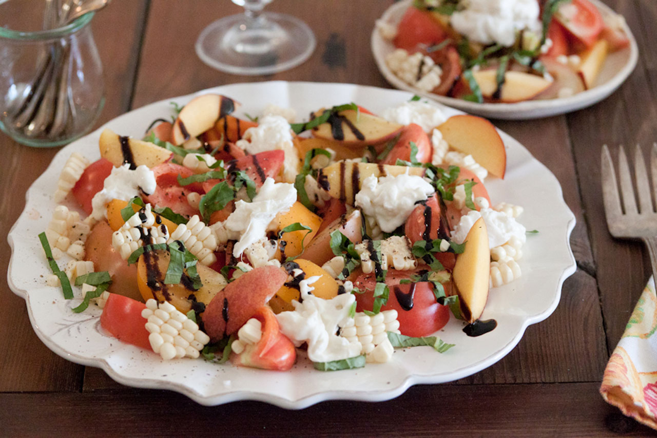 Seasonal Recipe Idea – Heirloom Tomato and Burrata Cheese Salad